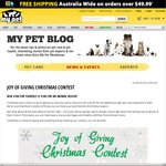 Win A $100 Voucher For Your Pet And An Animal Charity Of Your Choice from My Pet Warehouse