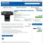 Logitech C920 HD Pro Webcam Black (Officeworks) $79.00