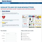 Sign up to Harvey Norman Newsletter and Get a $25 Voucher (Min Spend $150)