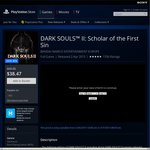 PS Store DARK SOULS II: Scholar of The First Sin PS4 $38.47