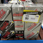 $5 Coke Zero or Diet Coke 30 Pack Clearance at Big W Box Hill (Vic)