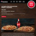 3 Pizzas for $17.95 Delivered @ Domino's (Dandenong VIC)