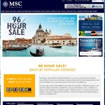 MSC Cruises - 96 Hour Sale - 7 Night Mediterranean Cruises from $591 Per Person