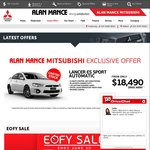 Mitsubishi Lancer ES Sport Automatic 2015 Model from $18,490 Driveaway [Melbourne Only]