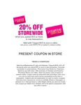 20% off Storewide (Minimum Spend $10) @ Priceline - Sister Club (Free to Join, Can Be Combined with 40% off Skincare Offer)