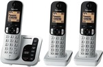 Panasonic Cordless Phone Triple Pack $58 ($33 with $25 Voucher) @ The Good Guys