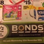 50% off All Bonds at Woolworths