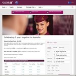 Qatar Airways Return (Jan - Mar 2017): Istanbul & Frankfurt from $1205, Barcelona $1220, Rome $1250, Paris $1260 + More