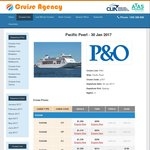 P&O Pearl 30 Jan 4 Night Cruise Syd-AKL One Way $299 Pp Twin @ Cruise Agency