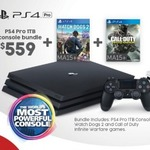 PS4 1TB Pro + Watch Dogs 2 + COD Infinite Warfare $559 @ Target