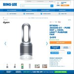 Dyson Pure Link Hot + Cool $499 at Bing Lee (RRP $749) + Free Filter Valued at $99 if Purchase on or before 2 April