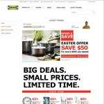 Save $50 for Every $500 You Spend on IKEA Products @ IKEA SPRINGVALE [VIC]