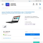 Lenovo ThinkPad T470 Intel i7-7500U/8GB/256GB-SSD/14inFHD $1369 + Shipping @ Landmark Computers (Limited Stock)