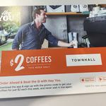 $2 Coffees All Week (Unlimited) in Sydney CBD Via Hey You App (New Users)
