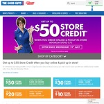Get up to $50 Store Credit When You Click and Collect Orders over $400 @ The Good Guys, Online