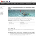 15%, 20% or 30% More Qantas Frequent Flyer Points