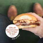 20% off Skip App Lunch Orders, 11/9 12PM-1PM