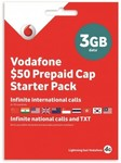 Vodafone $50 Prepaid SIM Pack for $18 (9GB Data, Infinite Local Calls, and 1000mins International Calls) @ Harvey Norman