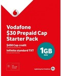 Vodafone $30 Multi-Fit Pre-Paid Starter Pack & $30 Nano Pre-Paid Starter Pack $3/Each @ Harvey Norman Free C&C