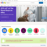 eBay 20% off Site-Wide (Up to $50 Max Discount)
