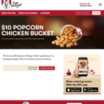 KFC $10 Popcorn Bucket (Via @ KFC App)