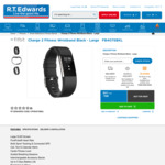 Fitbit Charge 2 $158 @ Radio Rentals & R.T. Edwards