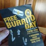 [NSW] Guzman y Gomez Free Burrito Day (Werrington Store)
