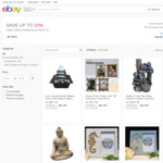 20% off Selected Ornaments and Water Features @ Emventure Living eBay Store