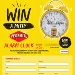 Win 1 of 500 Vegemite Alarm Clocks Worth $50 from Bega Cheese [Purchase Vegemite]