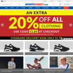20% of All Clothing @ SportsDirect