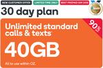 32GB Prepaid | 30 Days | $4.90 @ Kogan Mobile (New Customers)