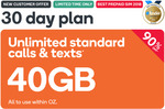 40GB Prepaid | 30 Days | $4.90 @ Kogan Mobile (New Customers)