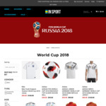 50% OFF Selected 2018 World Cup Jerseys (Brazil, Portugal, Germany, England, Spain, Argentina & More) @ Insport.com.au