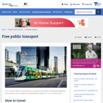Victoria Statewide - Free Public Transport for Senior Card Holders Using Their Victorian Seniors Card and Seniors Myki Card