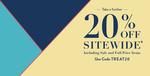 Extra 20% off Sitewide (incl. Sale Items) @ Nautica Australia
