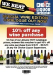 10% off All Wine Purchases at First Choice Liqour with Voucher 9/3 to 20/3