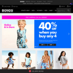 Bonds Online - Buy 4 Get 40% off + FREE Shipping