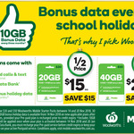 Woolworths Prepaid Starter Pack, 10GB $15, 30GB $25 + 10GB Bonus @ Woolworths