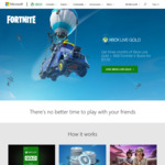 [XB1] 3 Months Xbox Live Gold + 1000 Fortnite V Bucks for $11.95 @ Xbox (New / Lapsed Accounts)
