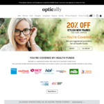 26% off All Prescription Glasses and Sunglasses @ Optically