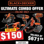Black & Decker Ultimate Combo Offer $150 Delivered (Worth $671.89) @ Supercheap Auto (Online C&C Only)