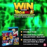 Win a Dragon Ball Super: Broly Prize Pack or Minor Prizes from EB Games