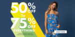 50% to 70% off Everything @ Rockmans