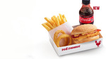 Smoky Cheese & Bacon Burger Meal $5 (Available until 4pm) @ Red Rooster