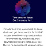 3 Months Apple Music for $11.99