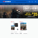 Trade 2 Games (PS4, XB1, Switch) and Get Days Gone (Standard Edition) for $35 @ EB Games