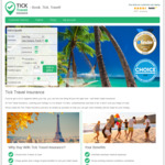 10% off Travel Insurance Policies @ Tick Travel Insurance