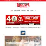 40% off Storewide @ Dimmeys