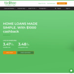 Tic: Toc P&I Live-in Home Loan Variable 3.27% (3.28% CR) (Optional Offset $10/M) + $1000 Cashback (UPDATED)