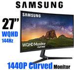 "[eBay Plus] Samsung JG50 27"" 2K WQHD Curved Monitor 1440P 144hz - $390.15 Delivered @ OLC Direct eBay"